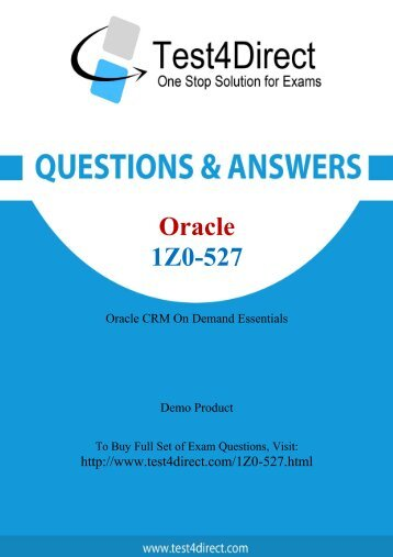 Up-to-Date 1Z0-527 Exam BrainDumps for Guaranteed Success