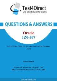 Real 1Z0-507 Exam BrainDumps for Free