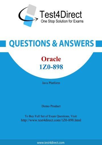 Download 1Z0-898 BrainDumps to Success in career