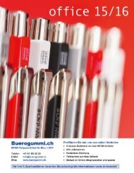 Büromaterial - Bürobedarf Katalog von www.Buerogummi.ch
