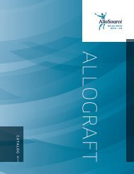 ALLOGRAFT CATALOG - AlloSource