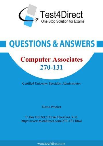 Up-to-Date 270-131 Exam BrainDumps