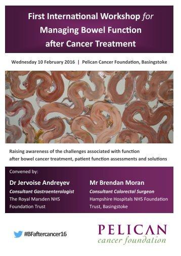First International Workshop for Managing Bowel Function after Cancer Treatment