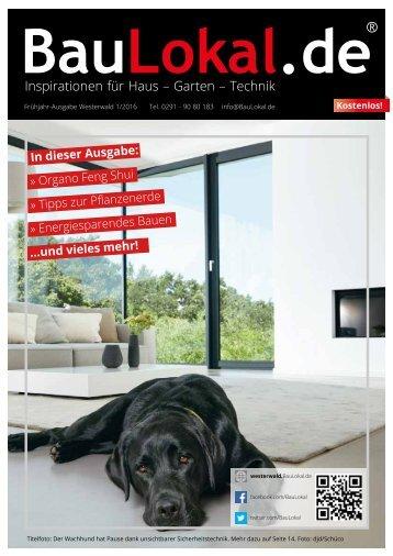 BauLokal.de - das Magazin Ausgabe Westerwald Frühjahr 2016