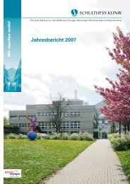Jahresbericht 2007 - Schulthess Klinik
