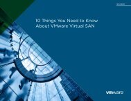10 Things You Need to Know About VMware Virtual SAN