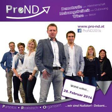 ProND Broschüre
