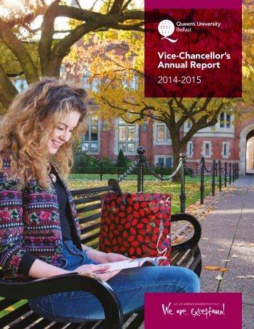 Vice-Chancellor's Annual Report 2014-2015
