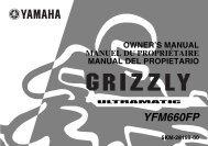 Yamaha GRIZZLY 660 - 2003 - Mode d'emploi Français