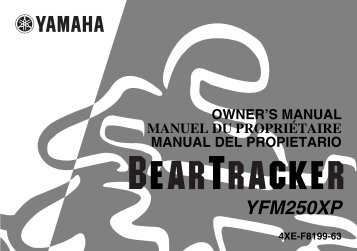 Yamaha BEAR TRACKER 250 - 2002 - Mode d'emploi English