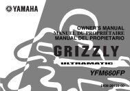 Yamaha GRIZZLY 660 - 2003 - Mode d'emploi Español