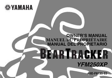 Yamaha BEAR TRACKER 250 - 2002 - Mode d'emploi Français