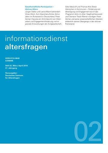 Heft 02/2010 - Deutsches Zentrum für Altersfragen