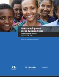 Youth employment in sub-Saharan Africa