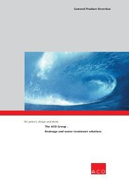 The ACO Group – Drainage and water treatment solutions We ...