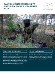 DANISH CONTRIBUTIONS TO NATO ASSURANCE MEASURES 2016