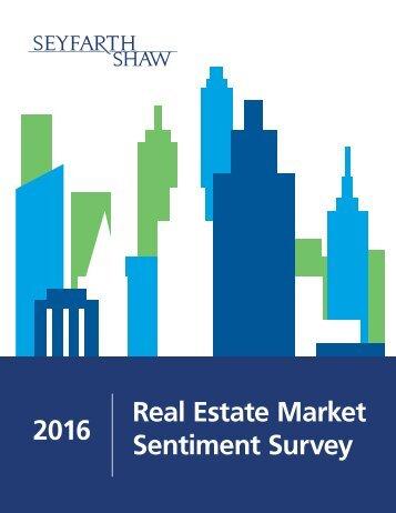 2016 Real Estate Market Sentiment Survey