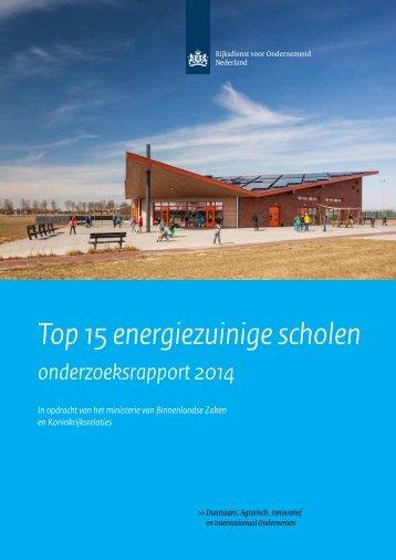 Top 15 energiezuinige scholen