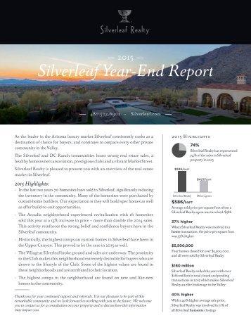Silverleaf Year-End Report