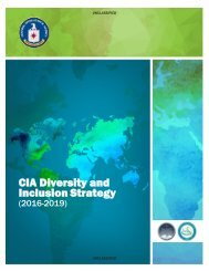 CIA Diversity and Inclusion Strategy