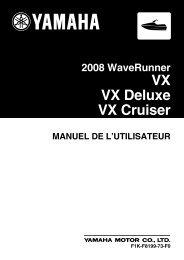 Yamaha VX Sport - 2008 - Mode d'emploi Français