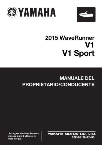 Yamaha V1 - 2015 - Mode d'emploi Italiano