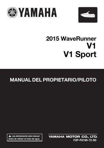 Yamaha V1 - 2015 - Mode d'emploi Español
