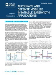 AEROSPACE AND DEFENSE MOBILIZE INSATIABLE BANDWIDTH APPLICATIONS