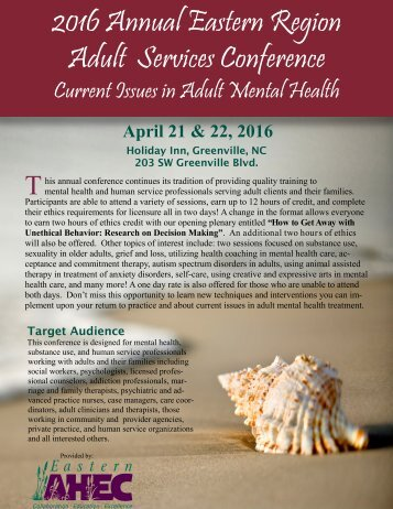 2016 Annual Eastern Region Adult Services Conference