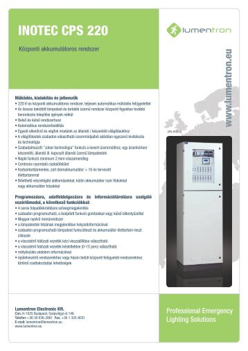 INOTEC CPS 220 - Lumentron Electronic Kft.