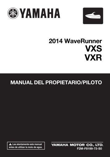 Yamaha VXR - 2014 - Mode d'emploi Español