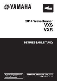 Yamaha VXR - 2014 - Mode d'emploi Deutsch