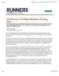 Get Serious: A 12-Week Marathon Training Plan