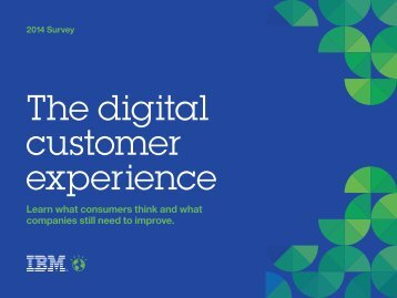 The digital customer experience