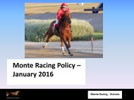 Monte Racing Policy – January 2016