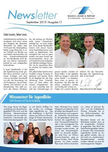 Rausch, Zeiger & Partner Newsletter