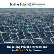 Unlocking Private Investment in African Solar Power