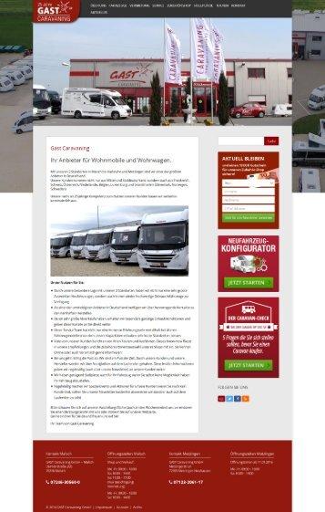Gast Caravaning -Wohnmobile & Wohnwagen Verleih'
