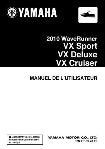 Yamaha VX Sport - 2010 - Mode d'emploi Français