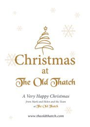 Christmas Party Menu Booki... - The Old Thatch