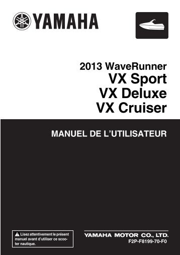 Yamaha VX Sport - 2013 - Mode d'emploi Français