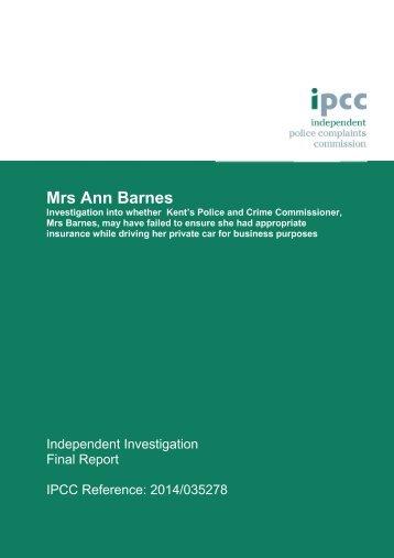 Mrs Ann Barnes