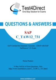 Real C_TAW12_731 Exam BrainDumps for Free