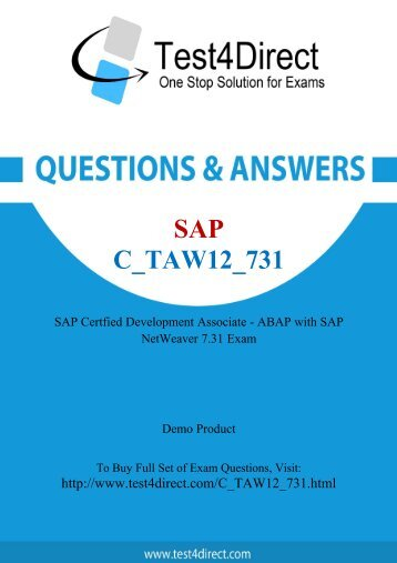 Real C_TAW12_731 Exam BrainDumps for Free