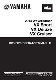 Yamaha VX - 2014 - Mode d'emploi English