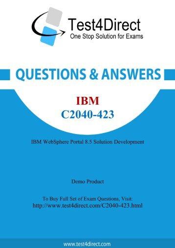 C2040-423 Real Exam BrainDumps Updated 2016