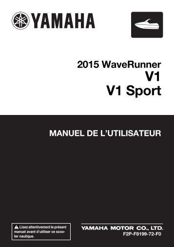 Yamaha V1 Sport - 2015 - Mode d'emploi Français