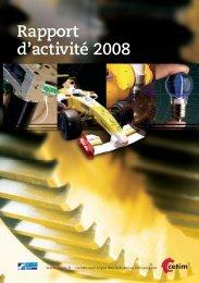 Rapport d'activité 2008 - Cetim
