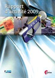 Rapport d'activité 2009 - Cetim
