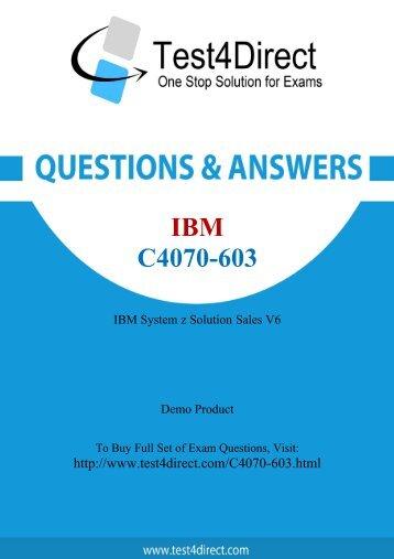 C4070-603 Actual Exam BrainDumps